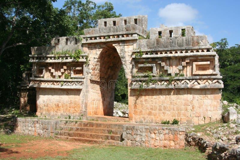 Maya gate. Ruins on a maya gate in the ancient city of labna', yucatan, mexico royalty free stock image