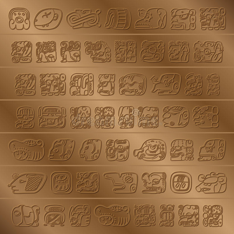 Maya Glyph απεικόνιση αποθεμάτων