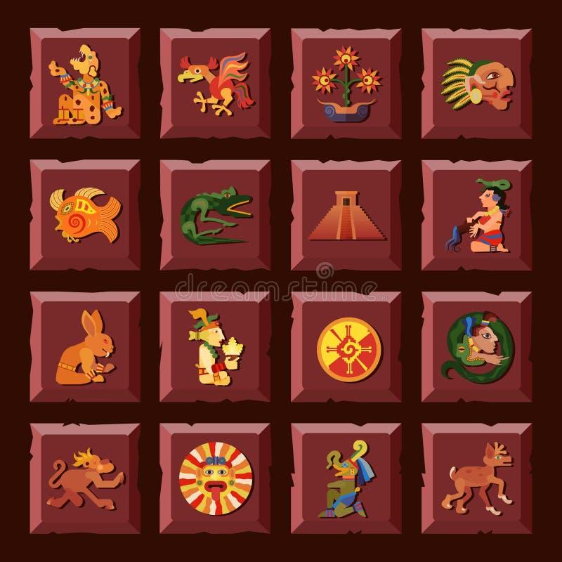 Maya Icons Set ilustração stock