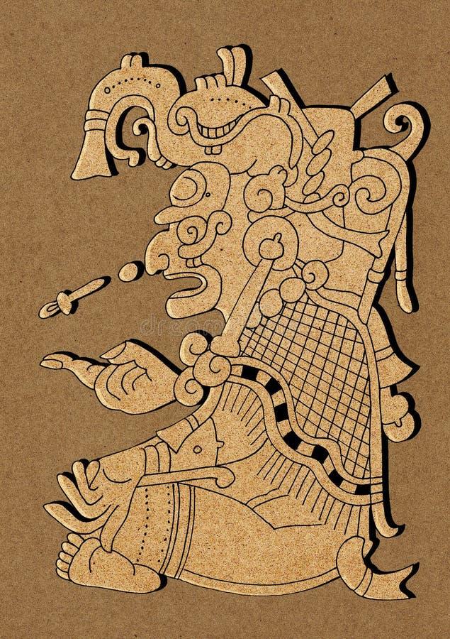 Maya - ilustração do códice maia de Dresden ilustração stock