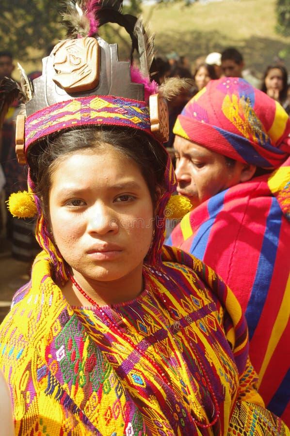 Maya inheemse mensen stock foto