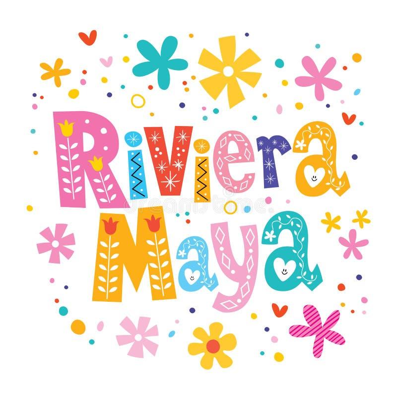 Maya M?xico de Riviera ilustração royalty free