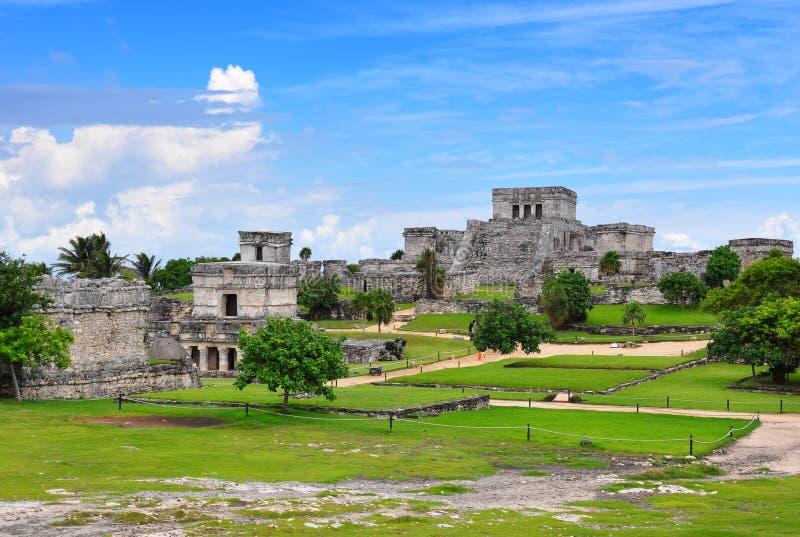maya mexico fördärvar tulum fotografering för bildbyråer