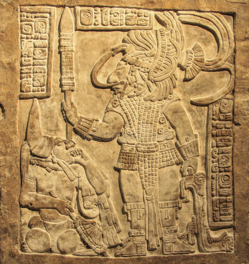 Maya ornament royalty free stock photos