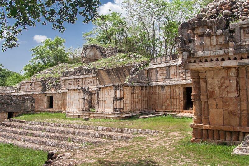 Maya Paleis Labna stock foto's