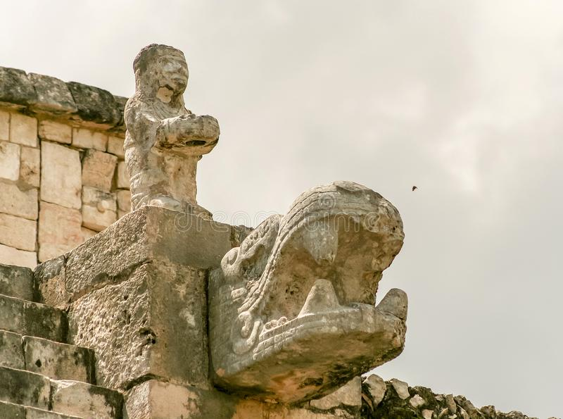Warriors Temple on Chichen Itza site in Mexico royalty free stock photo