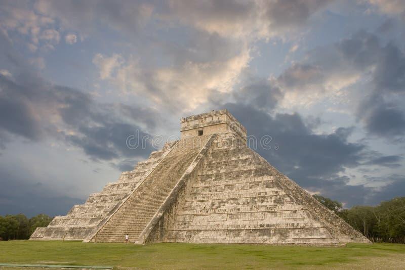 Maya piramide, Chichen Itza stock foto