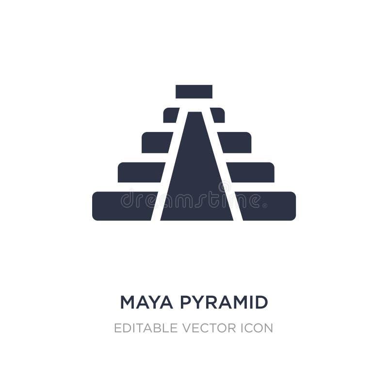 maya piramidepictogram op witte achtergrond Eenvoudige elementenillustratie van Monumentenconcept stock illustratie