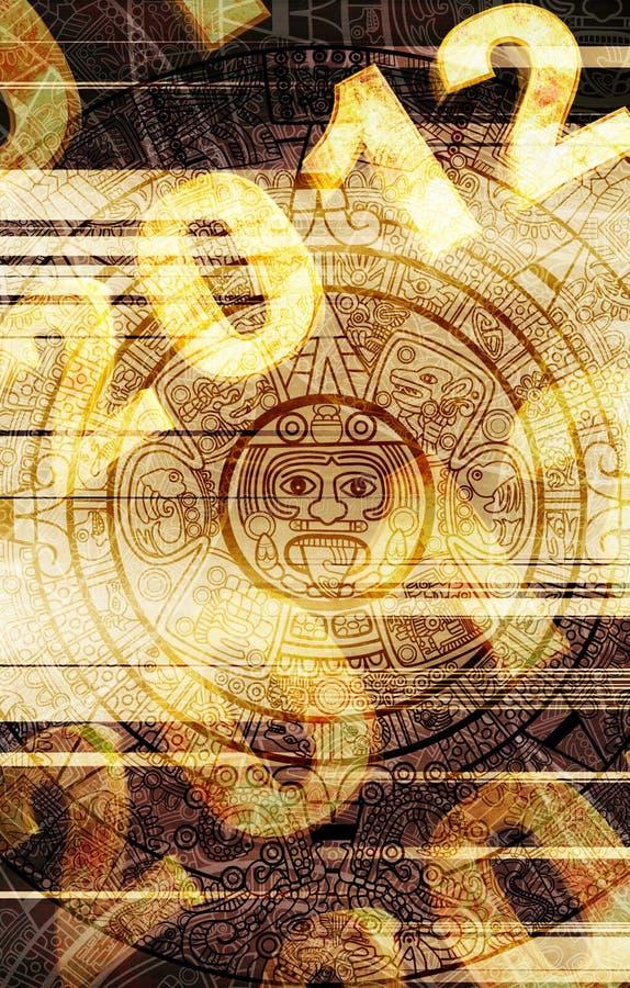 Maya prophecy. 2012. Maya prophecy. Grunge background vector illustration