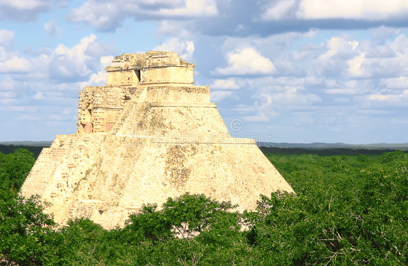Download Maya pyramid at Uxmal stock photo. Image of power, indian - 5109746
