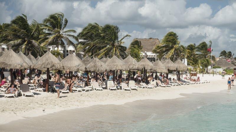 Maya Riviera Beach stockbild