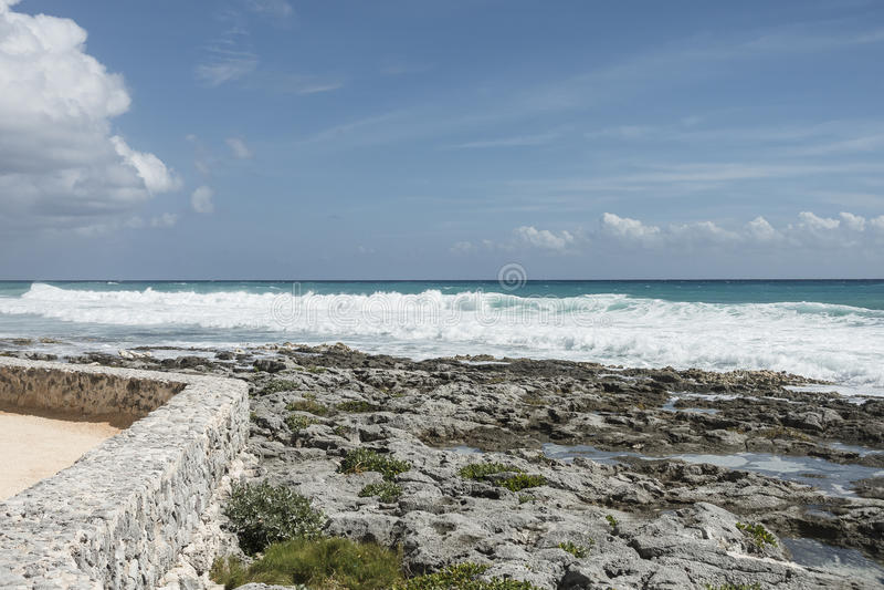 Maya Riviera Beach foto de archivo