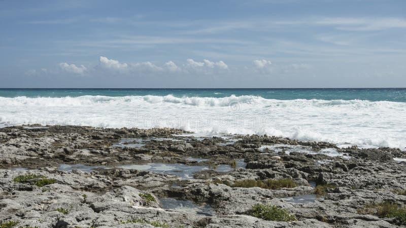 Maya Riviera Beach fotos de archivo libres de regalías