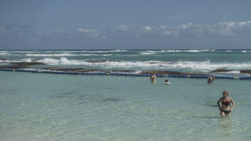 Maya Riviera Beach stockfoto