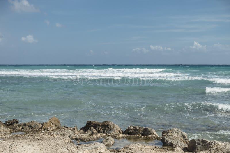 Maya Riviera Beach imágenes de archivo libres de regalías