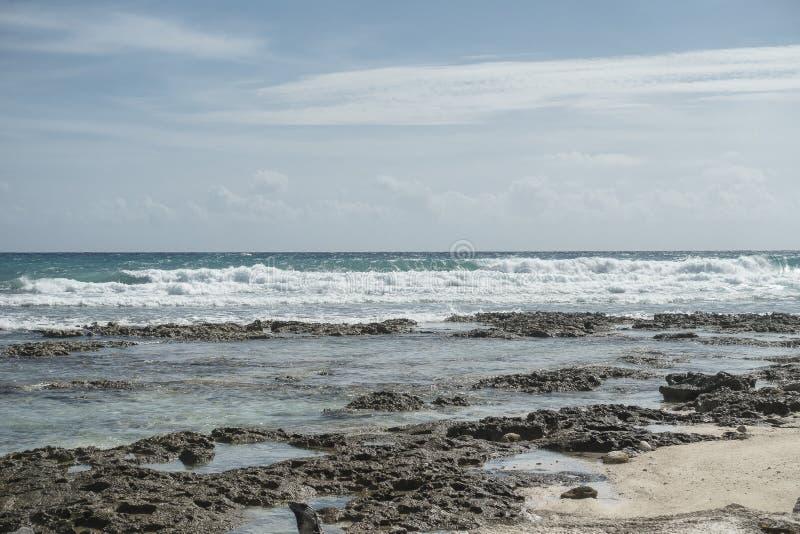 Maya Riviera Beach fotografía de archivo