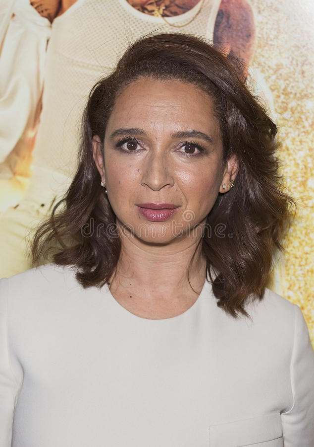 """Maya Rudolph. Comedian Maya Rudolph arrives on the red carpet for the world premiere of """"Popstar: Never Stop Never Stopping,"""" at the AMC Loews stock image"""