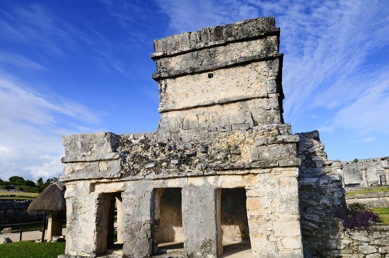 Maya ruins in Tulum stock photo