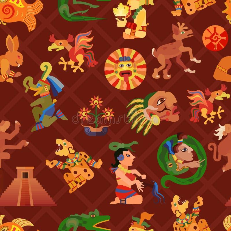 Maya Seamless Pattern ilustração stock