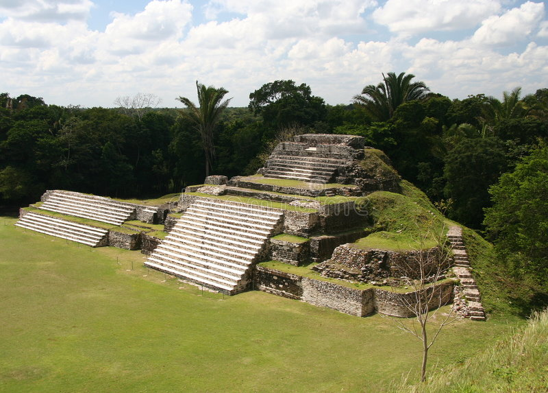 Maya-Tempel stockfotos
