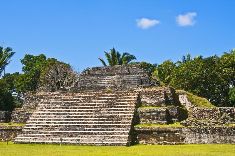 Maya Temple, Altun Ha, Belize royalty free stock images