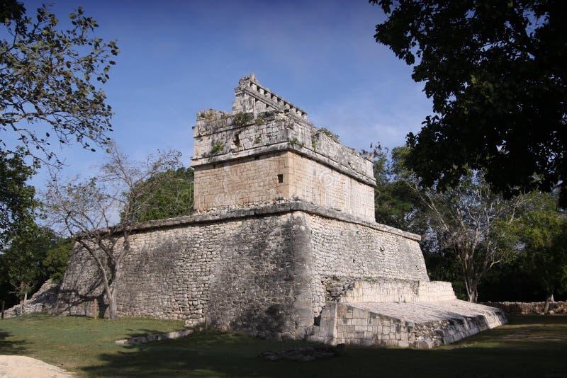 Maya temples in chichen-itza, Mexico stock photo