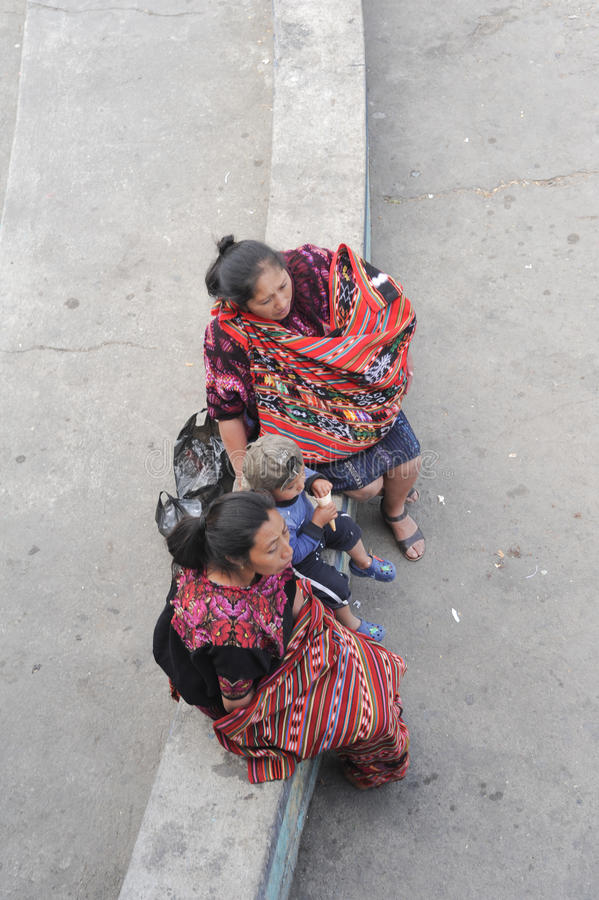 Maya vrouw in Chichicastenango royalty-vrije stock afbeeldingen