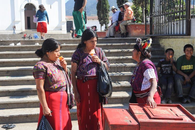 Maya vrouw in Nebaj royalty-vrije stock afbeeldingen