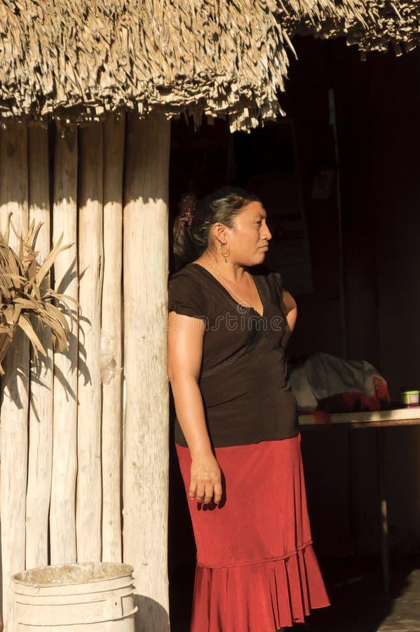 Maya vrouwenportret royalty-vrije stock fotografie