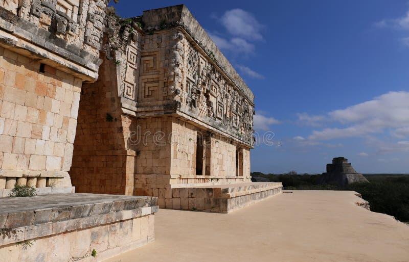 Mayagouverneur ` s Palast - Uxmal, Mexiko stockbilder