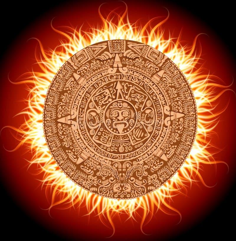 Mayakalender stock abbildung