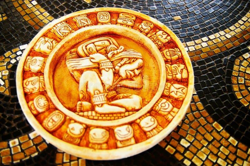 Mayakalendermakro lizenzfreie stockfotografie