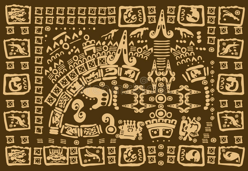 Mayakonstverk royaltyfri illustrationer