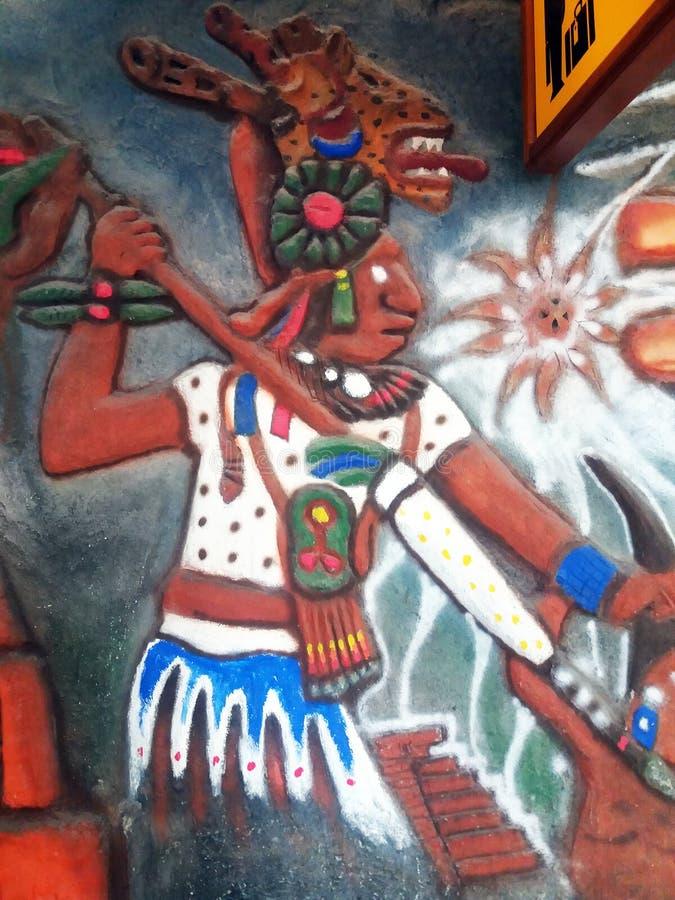 Mayakrieger stockfotos