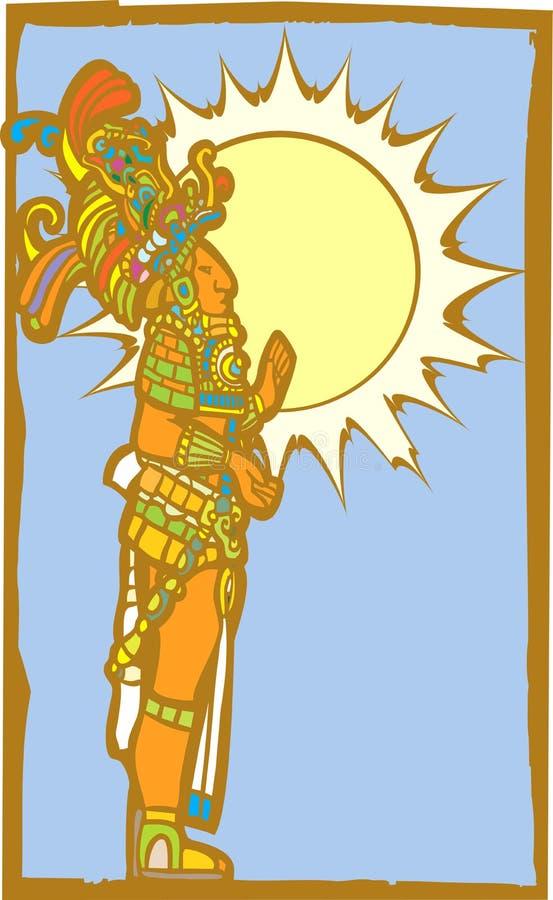 Mayalord mit Sun lizenzfreie abbildung
