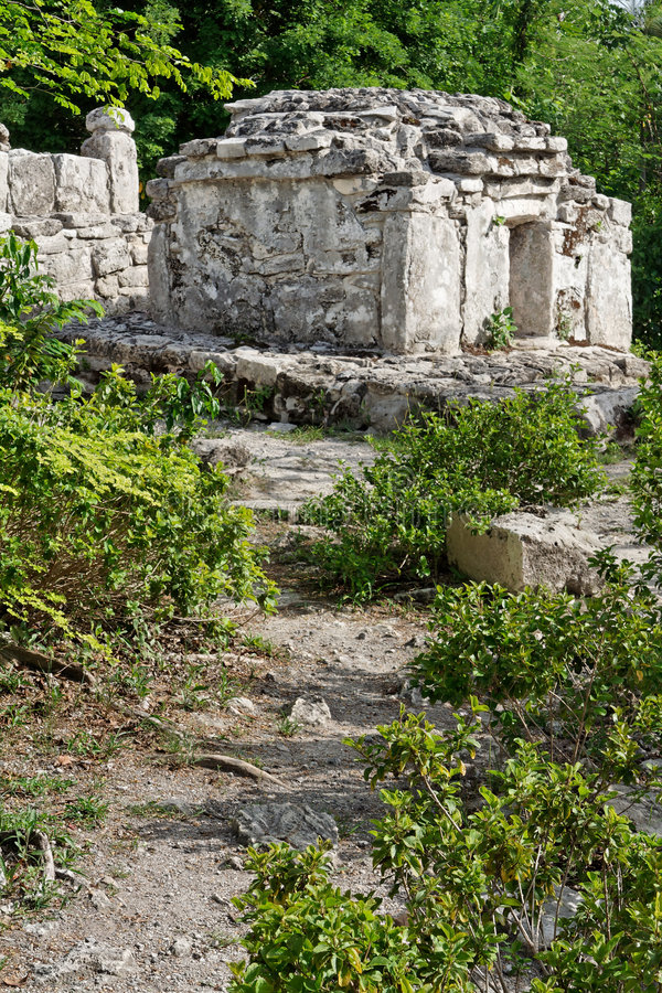 mayamexico tempel yucatan royaltyfri bild