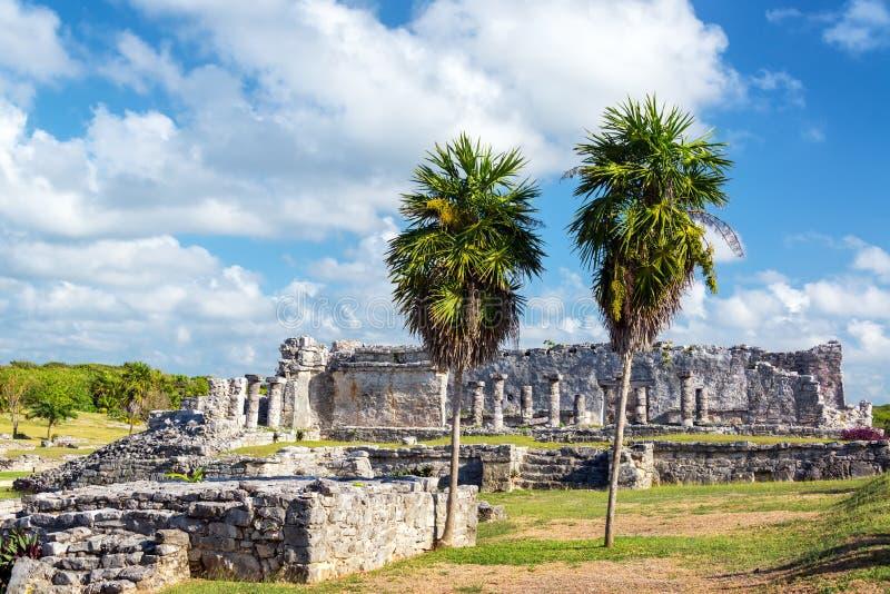 Mayan καταστροφές Tulum, Μεξικό στοκ φωτογραφίες με δικαίωμα ελεύθερης χρήσης