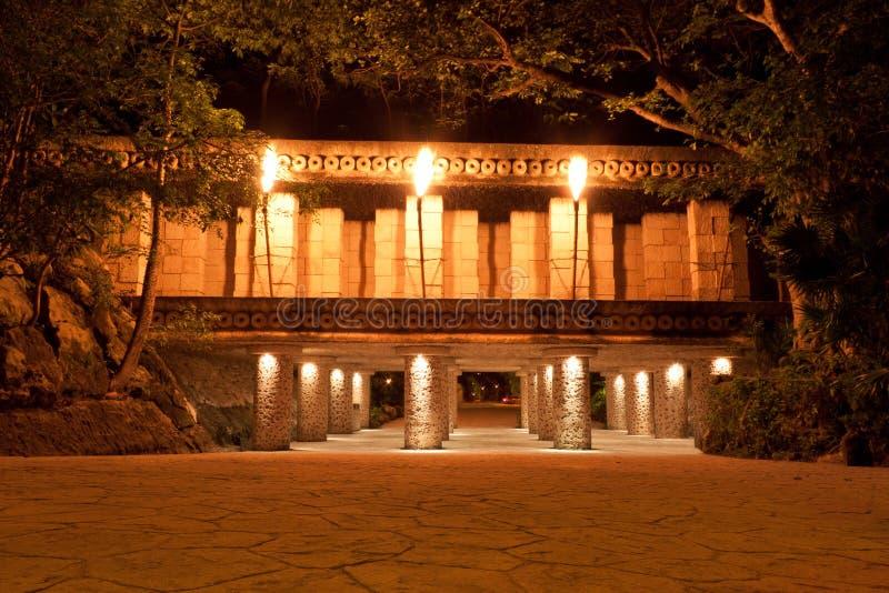 mayan μυστικός ναός στοκ φωτογραφίες