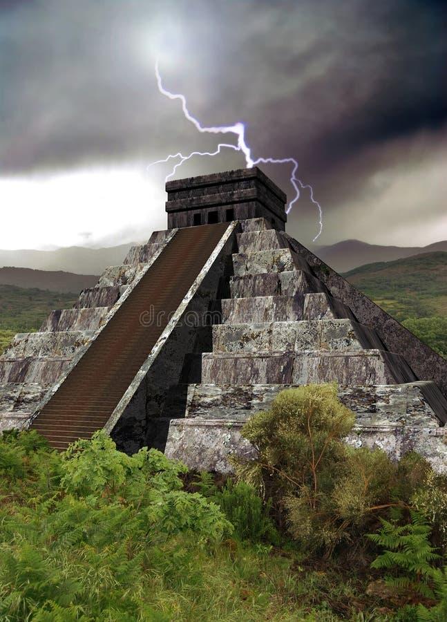 mayan πυραμίδα απεικόνιση αποθεμάτων