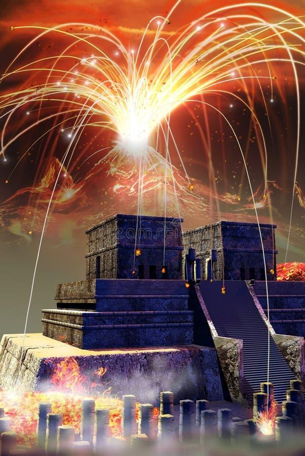 Mayan apocalyps vector illustratie
