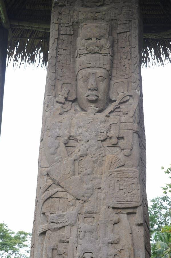 Mayan arkeologisk plats av Quirigua arkivfoto