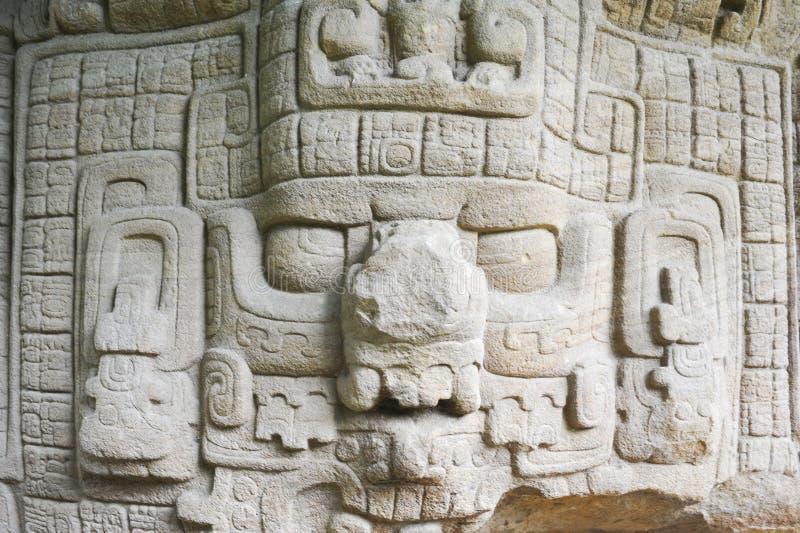 Mayan arkeologisk plats av Quirigua fotografering för bildbyråer