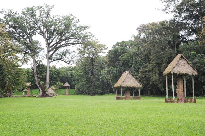 Mayan arkeologisk plats av Quirigua royaltyfria bilder