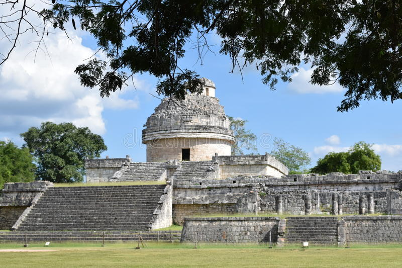 Mayan arkitektur royaltyfri fotografi