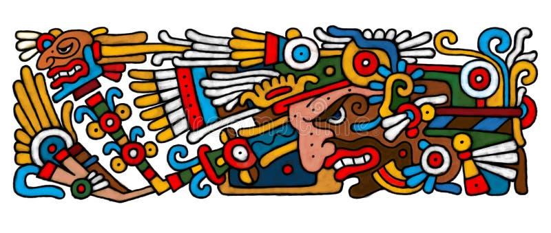 mayan atrwork stock illustrationer