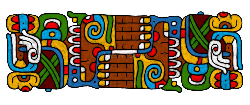 mayan atrwork vektor illustrationer