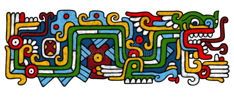 Mayan AtrWork stock illustratie