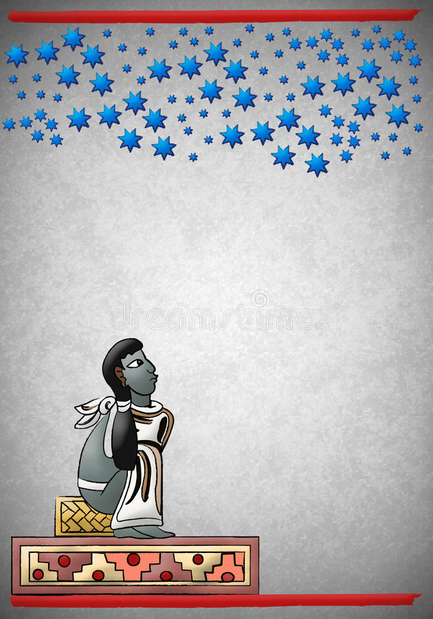 Download Mayan - Aztec Observing The Constellations In The Stock Illustration - Illustration of 2012, crafts: 22275597