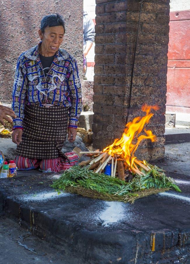 Mayan Ceremony stock photography