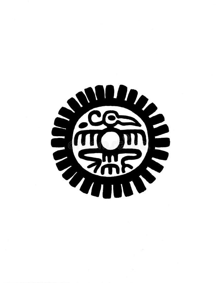Mayan diagram illustration arkivbilder